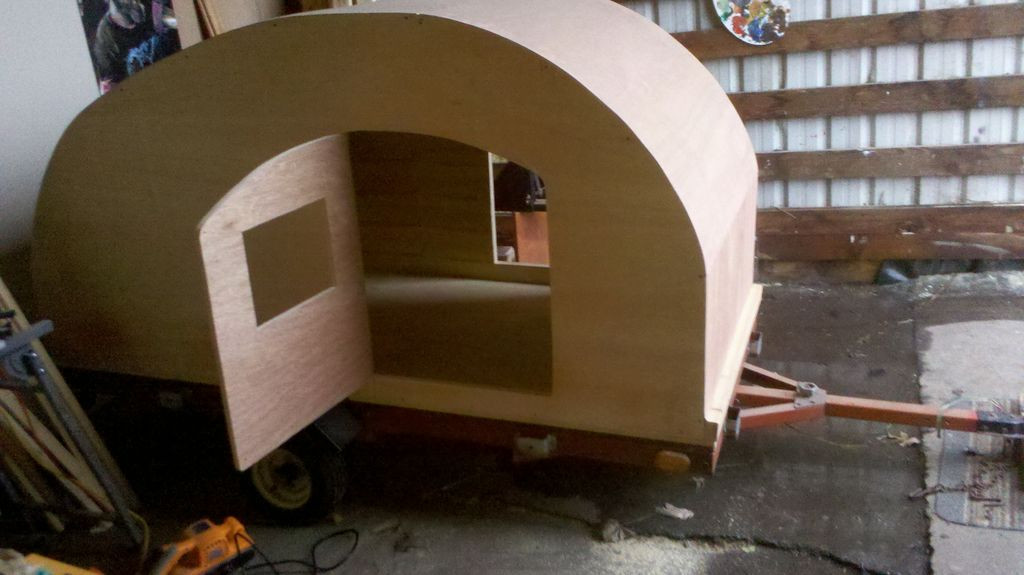 DIY Camper Trailer Plans  Teardrop Trailer Plans How to Build a Cheap Camper 4