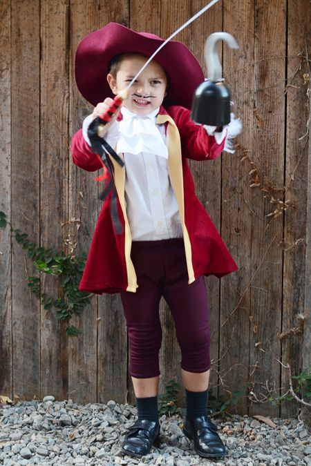 DIY Captain Hook Costumes  DIY Captain Hook Halloween Costume for Kids