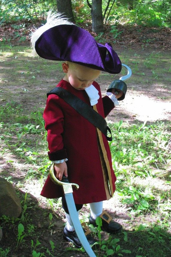 DIY Captain Hook Costumes  Child s Captain Hook Costume Custom Made by