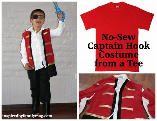 DIY Captain Hook Costumes  12 DIY Movie inspired Halloween Costumes for Kids