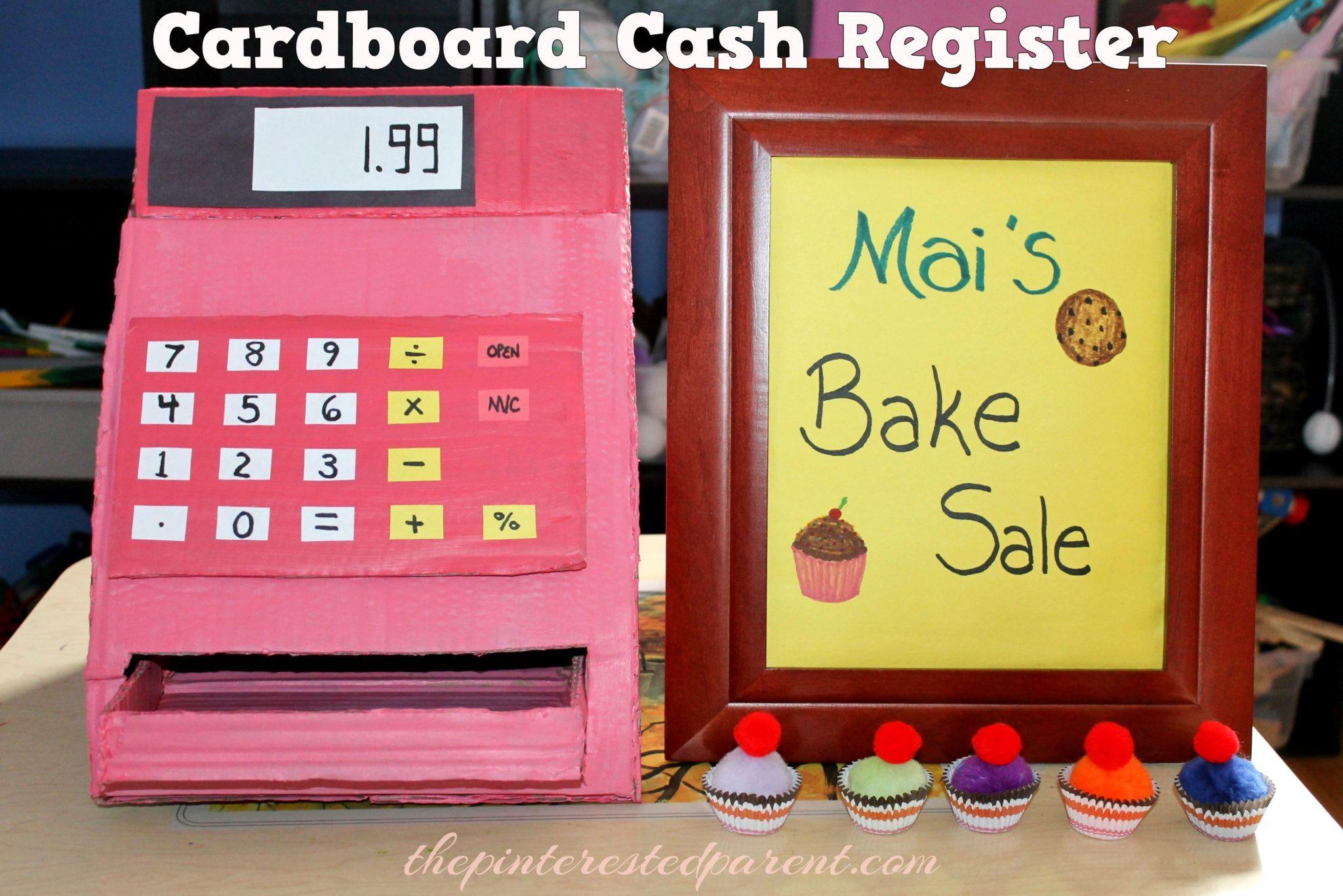 DIY Cash Box  DIY Cardboard Cash Register – The Pinterested Parent