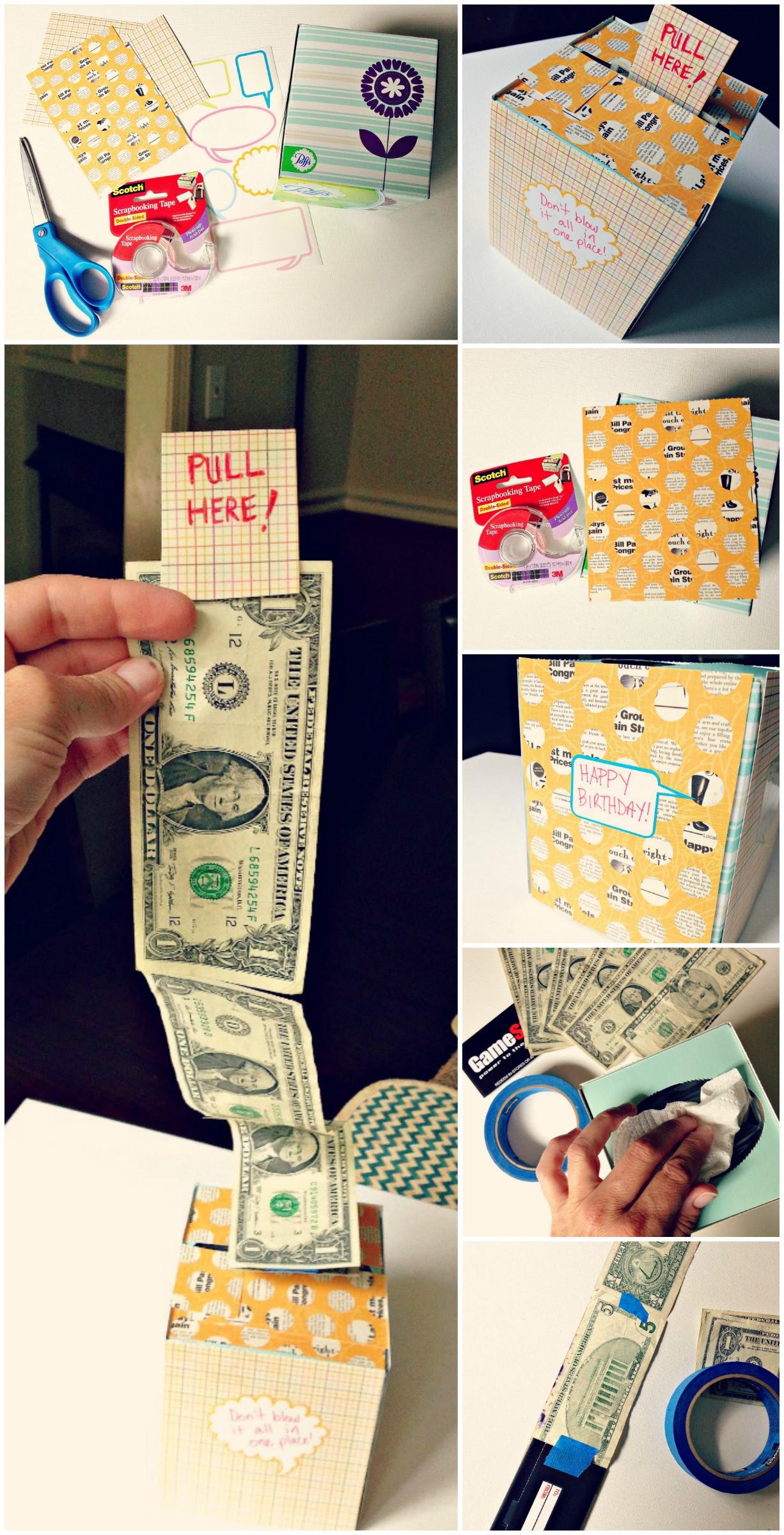 DIY Cash Box  DIY Creative Way To Give A Cash Gift Using A Kleenex Box