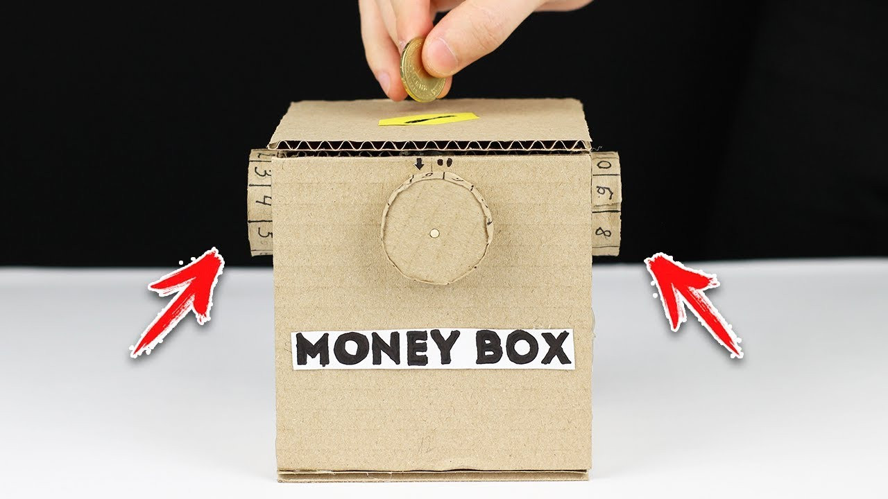 DIY Cash Box  How to Make Safe Coin Box with Password from Cardboard