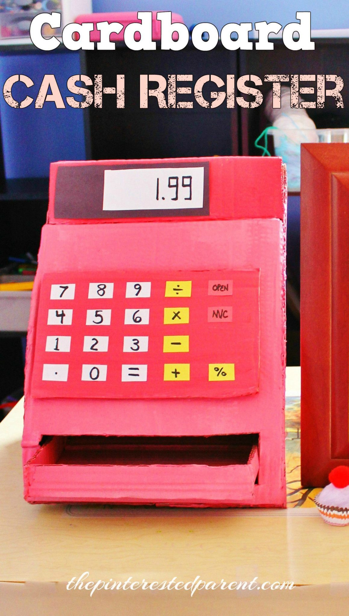 DIY Cash Box  DIY Cardboard Cash Register