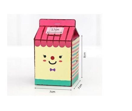 DIY Cash Box  New Cartoon 2 PCS DIY Piggy Bank Coin Savings Jar Cash Box