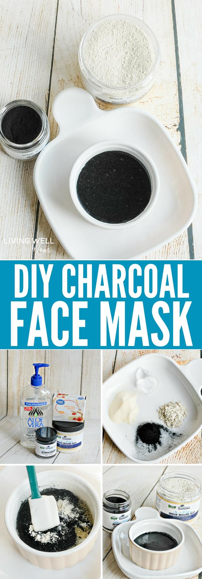DIY Charcoal Face Mask  DIY Charcoal Face Mask Recipe Living Well Mom