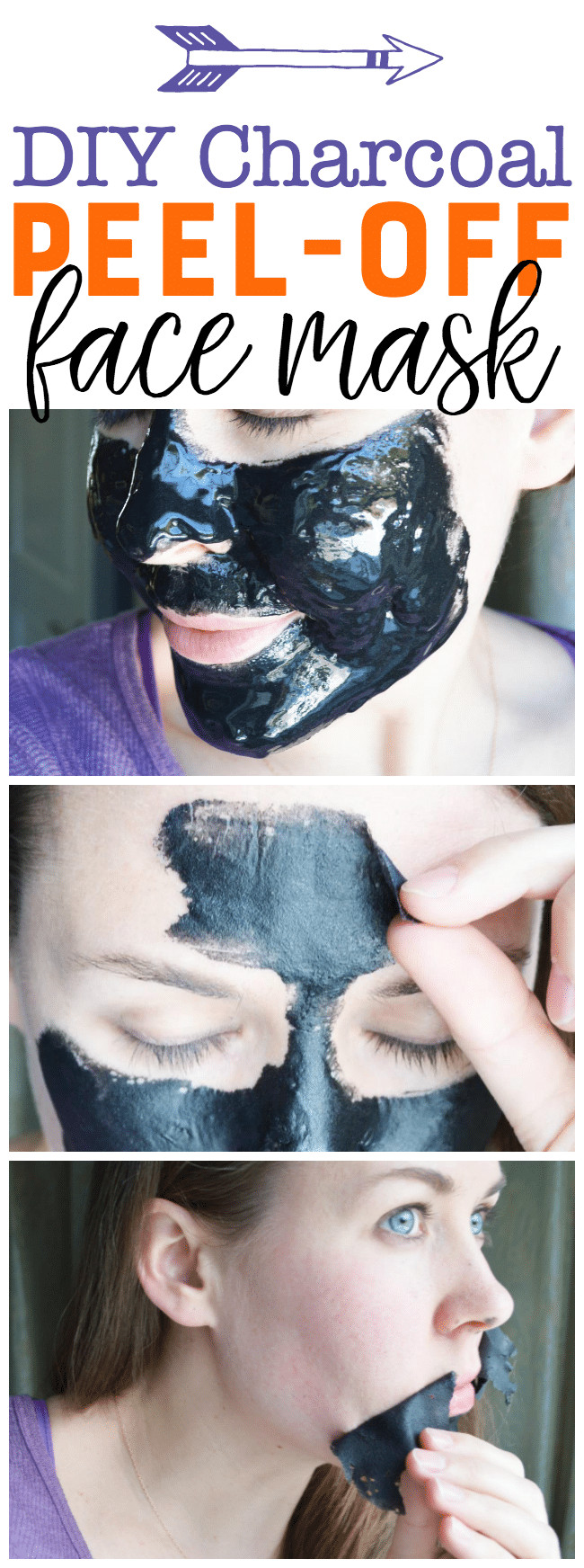 DIY Charcoal Face Mask  DIY Charcoal Peel f Mask Easy Blackhead Busting Mask