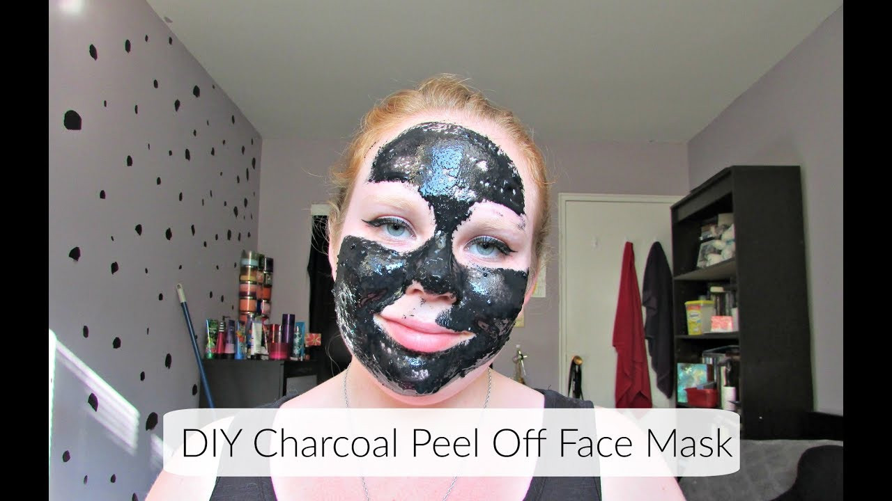 DIY Charcoal Peel Off Mask  DIY Charcoal & Gelatin Peel f Face Mask