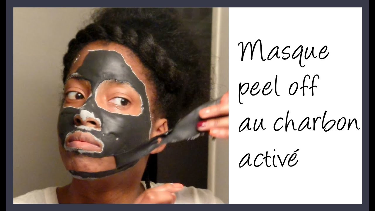 DIY Charcoal Peel Off Mask  Masque peel off au charbon activé DIY Activated