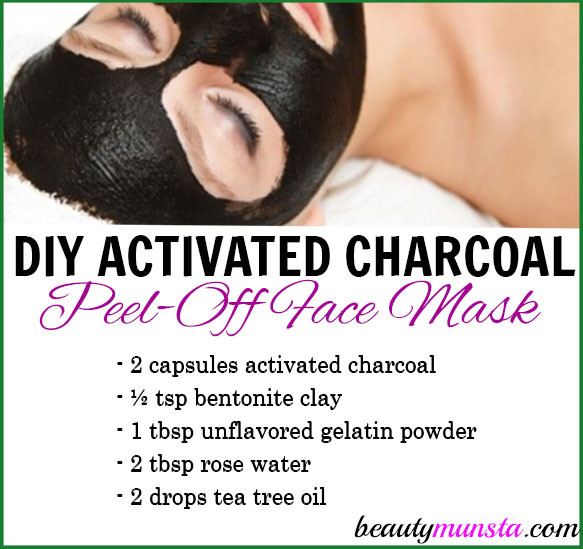 DIY Charcoal Peel Off Mask  DIY Activated Charcoal Peel f Mask beautymunsta