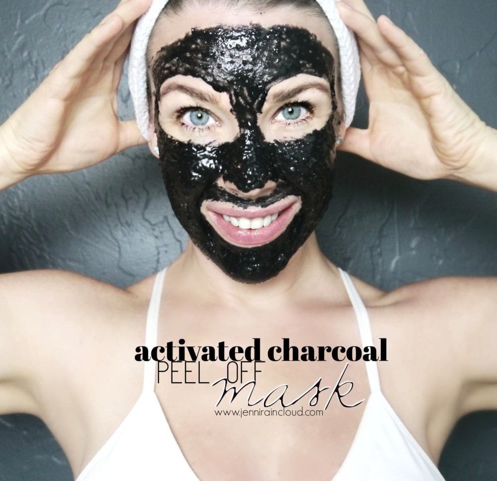 DIY Charcoal Peel Off Mask  Peel f Activated Charcoal Mask Jenni Raincloud