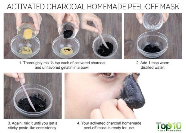 DIY Charcoal Peel Off Mask  Homemade Peel f Masks for Glowing Spotless Skin