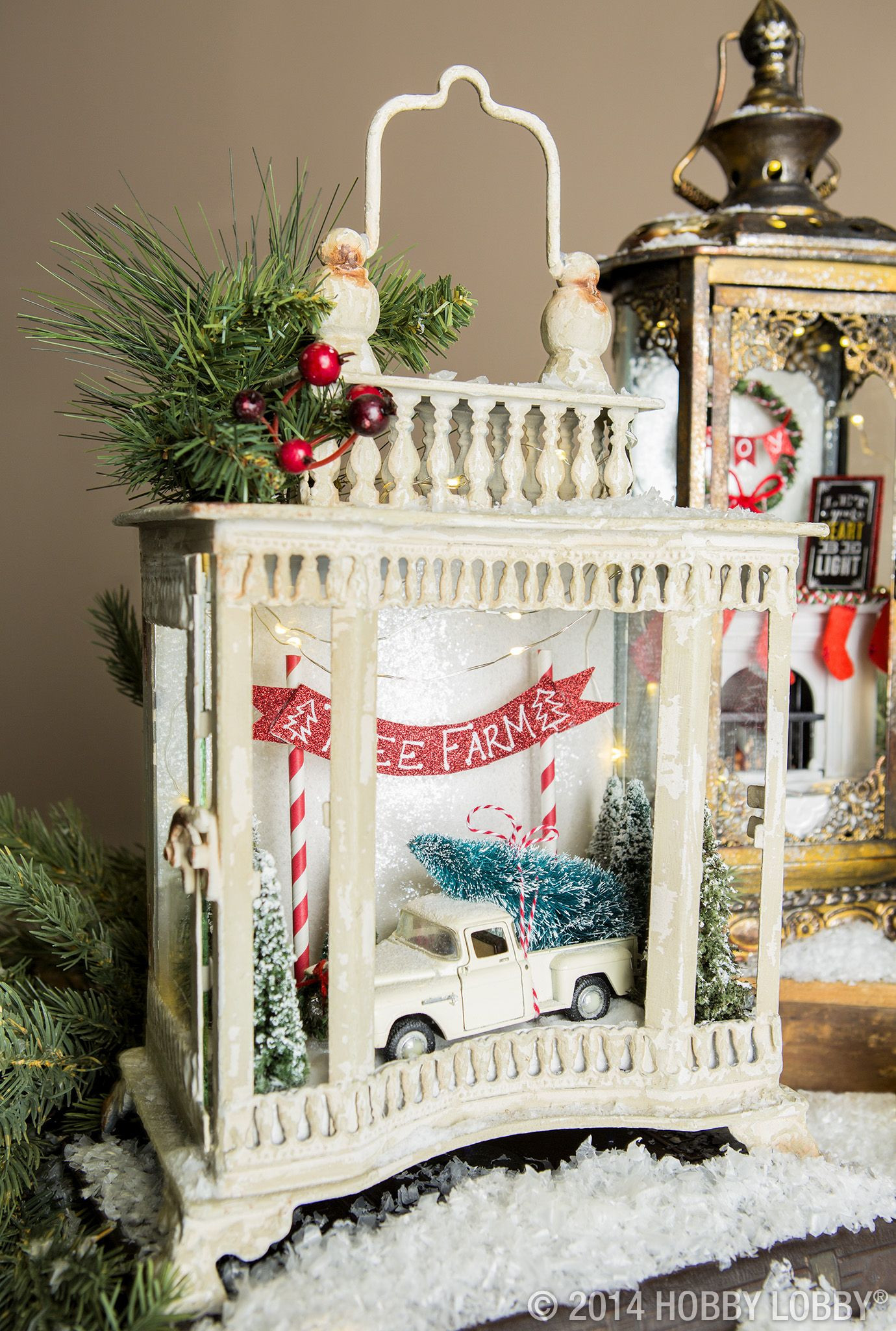 DIY Christmas Lantern  Add a personal touch to your Christmas decor with homemade