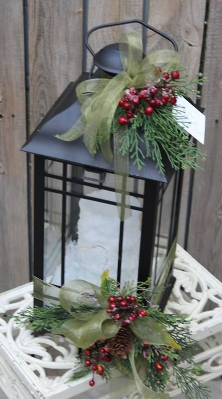 DIY Christmas Lantern  Christmas theme lantern Decorated Lanterns