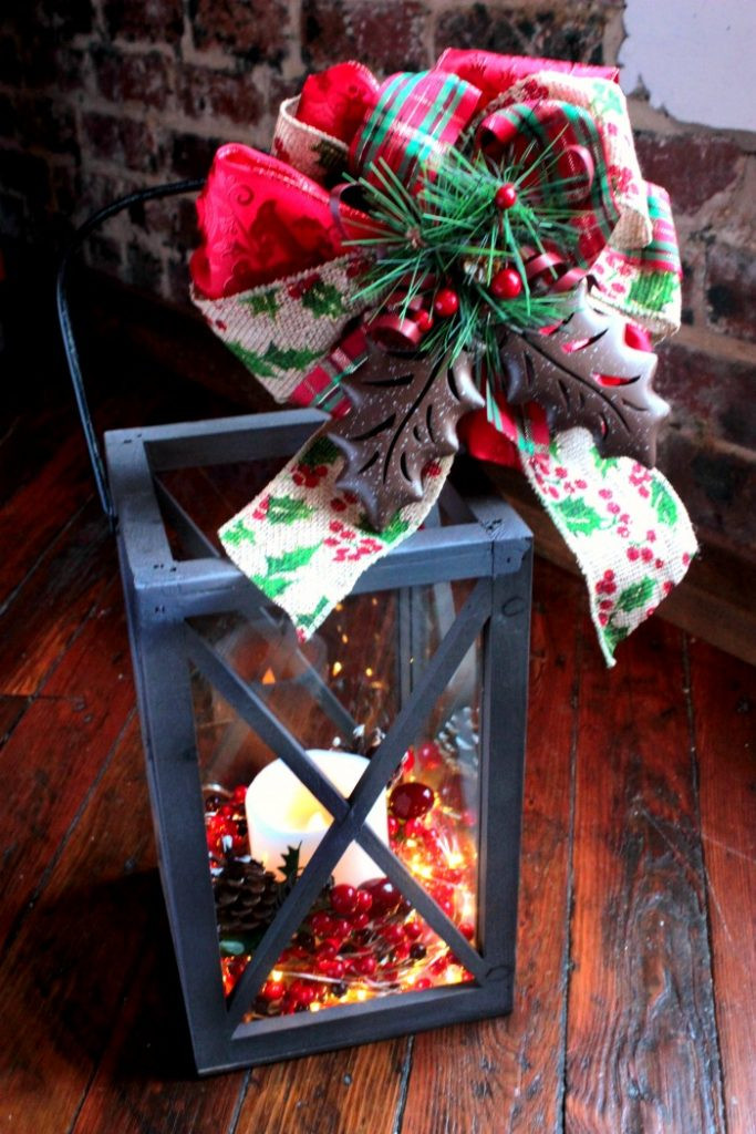 DIY Christmas Lantern  DIY Christmas Lantern Tutorial How to Decorate a