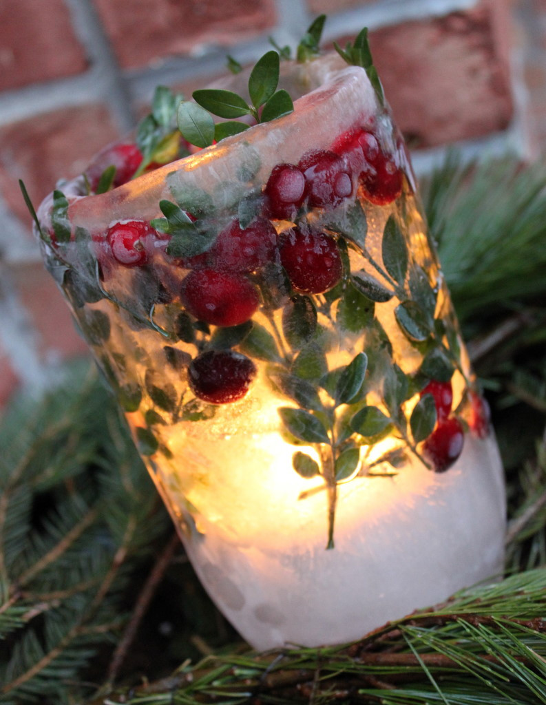 DIY Christmas Lantern  DIY Holiday Ice Lanterns Oh My Creative