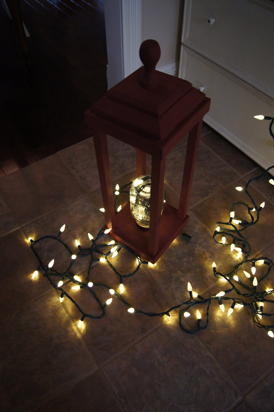 DIY Christmas Lantern  My Historic Country Home DIY Wooden Exterior Christmas