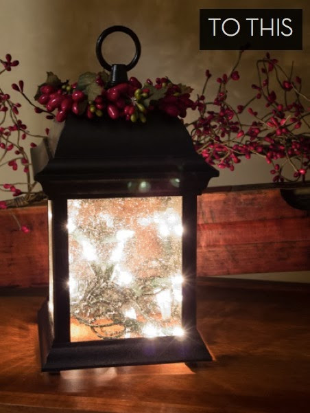 DIY Christmas Lantern  Repurpose fixtures & bulbs into brilliant holiday decor