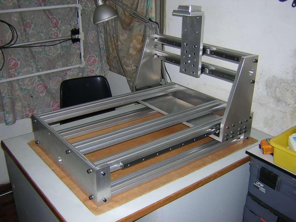 DIY Cnc Router Plan  Metal CnC Frame DIY Machine Design More