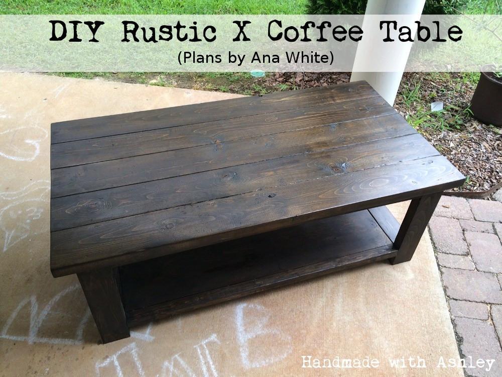 DIY Coffee Tables Plans  DIY Rustic X Coffee Table Plans by Ana White Handmade