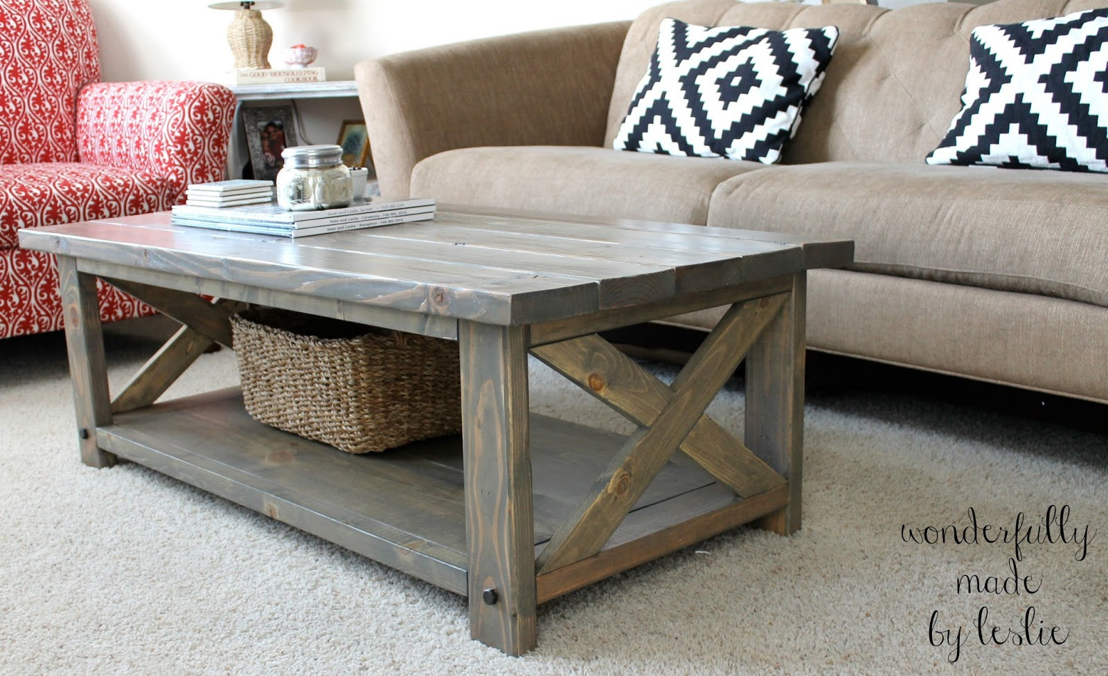 DIY Coffee Tables Plans  Wonderfully Made Finished DIY Coffee Table
