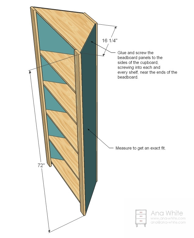 DIY Corner Shelf Plans  Corner Cupboard