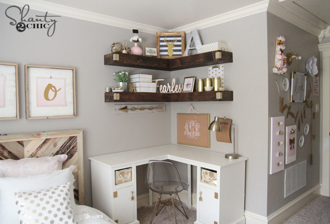 DIY Corner Shelf Plans  DIY Floating Corner Shelves Shanty 2 Chic