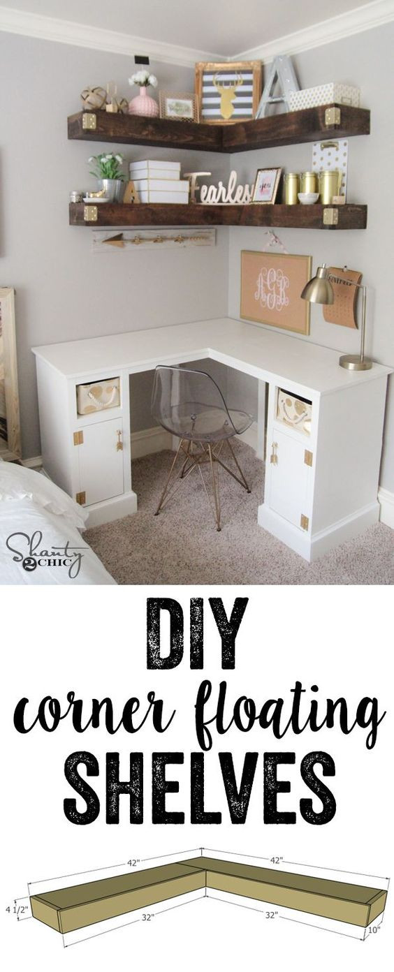 DIY Corner Shelf Plans  20 DIY Corner Shelves to Beautify Your Awkward Corner 2017