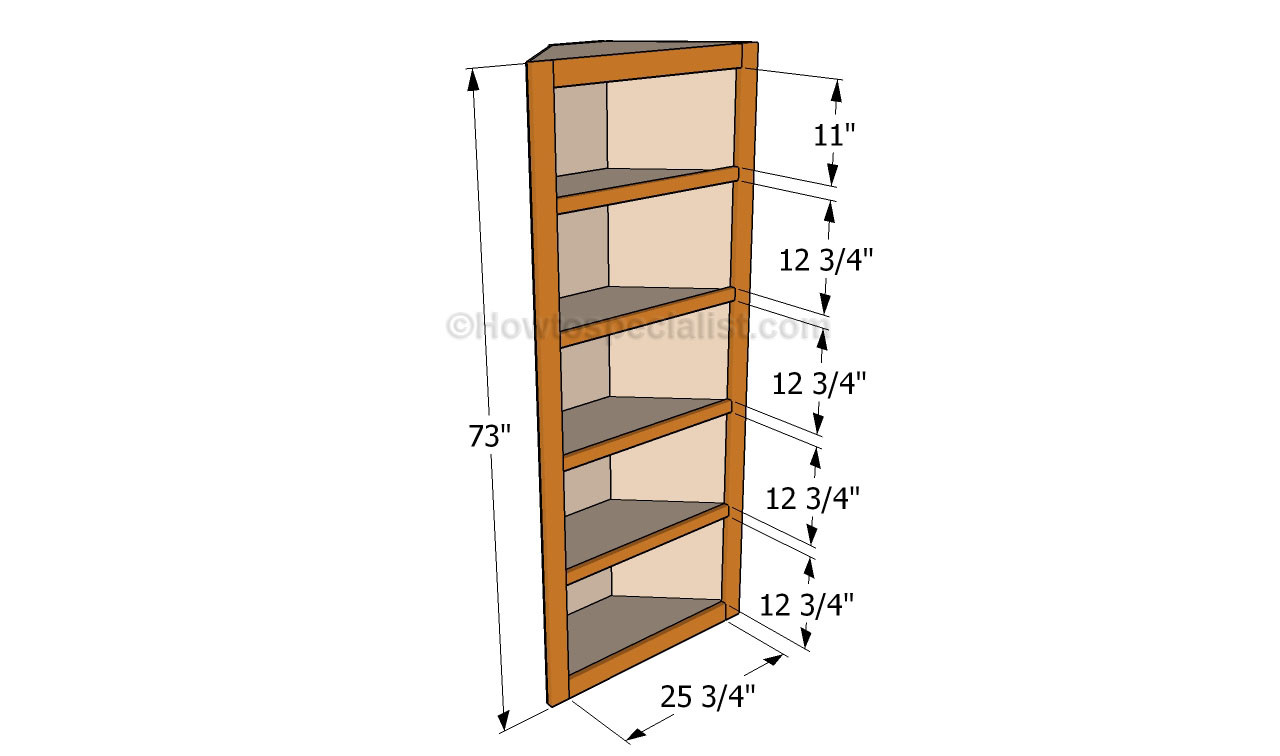 DIY Corner Shelf Plans  How to build corner shelves