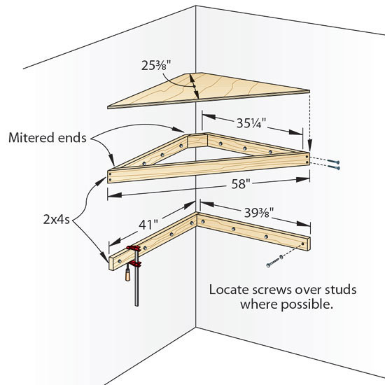 DIY Corner Shelf Plans  Plans Corner Shelf Plans DIY Free Download clerestory shed