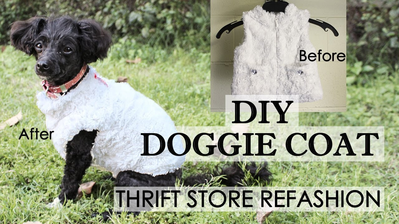 DIY Dog Clothes From Baby Clothes  EASY DIY Dog Coat Refashion making cute dog clothes from