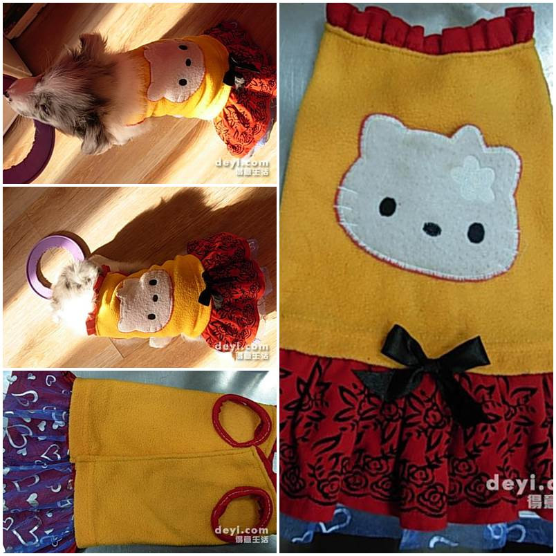 DIY Dog Clothes From Baby Clothes  DIY Dog s Christmas Sweater