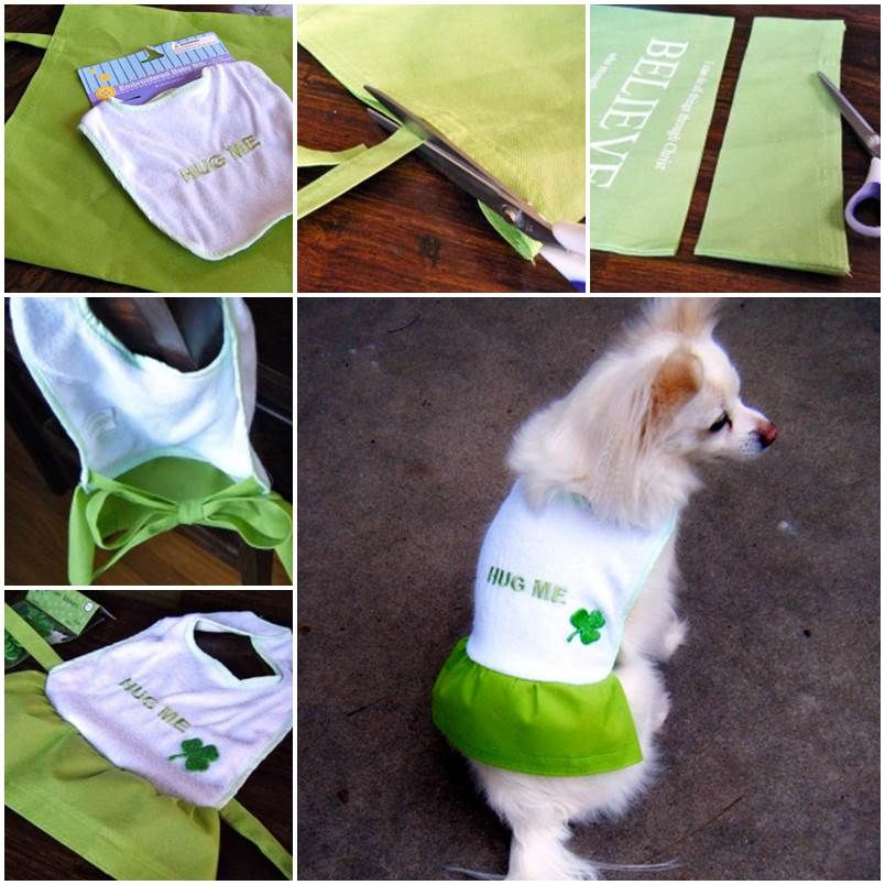 DIY Dog Clothes From Baby Clothes  DIY Dog Coat with Dollar Store Materials