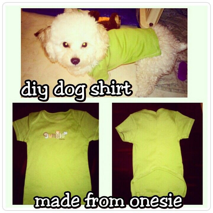 DIY Dog Clothes From Baby Clothes  Diy dog shirt Used a baby onesie Upcycle baby clothes