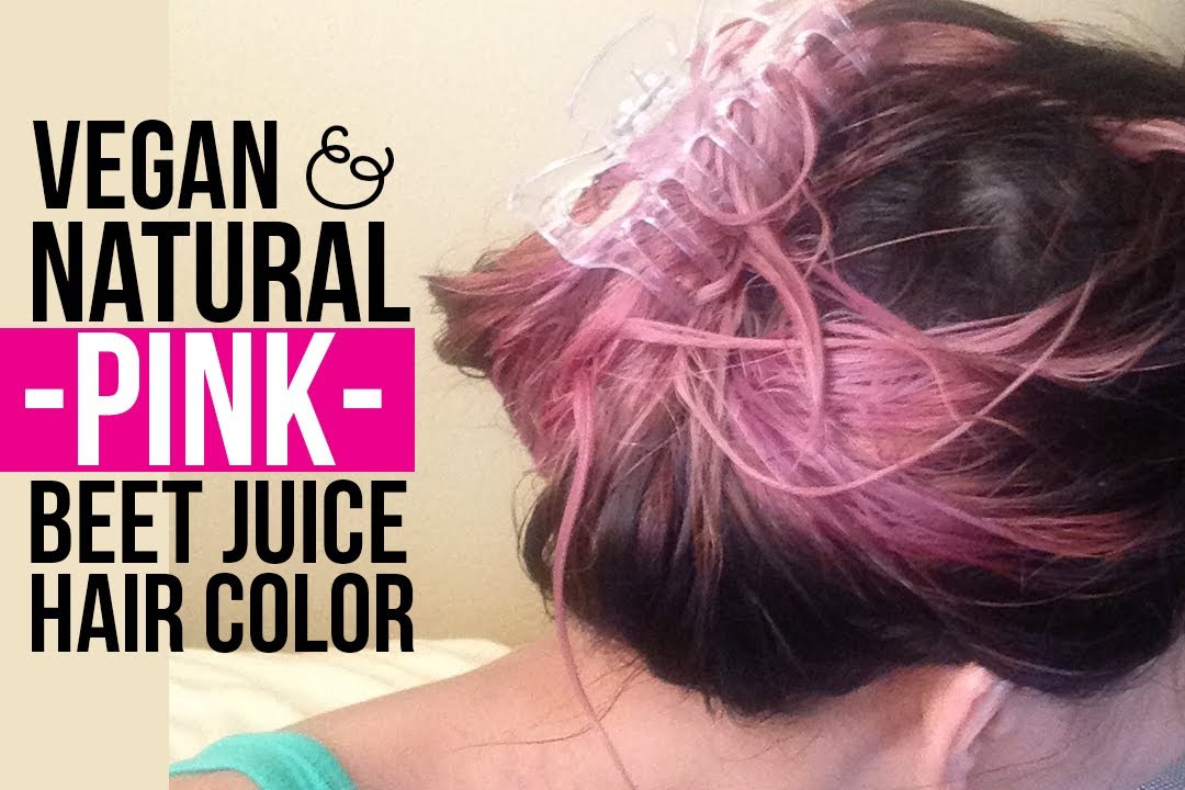 DIY Dyeing Hair  DIY Natural Vegan PINK Beet Juice Temporary Hair Color