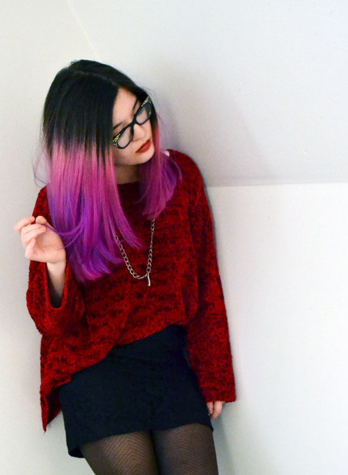 DIY Dyeing Hair  DIY Temporary dip dye hair