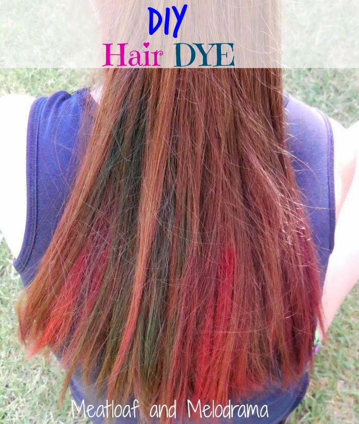 DIY Dyeing Hair  DIY Temporary Hair Dye Meatloaf and Melodrama