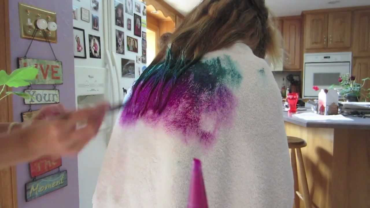 DIY Dyeing Hair  DIY Dip Dyed Hair