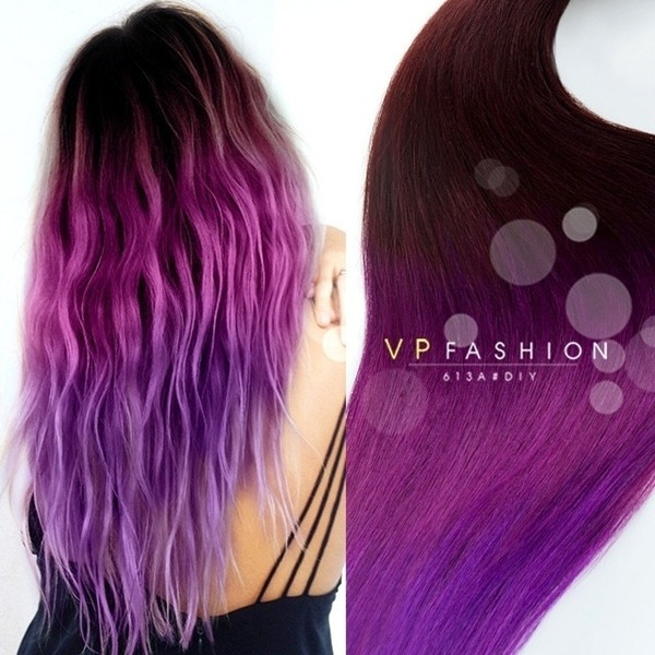 DIY Dyeing Hair  Purple ombre for dark hair DIY 2015 summer your personal