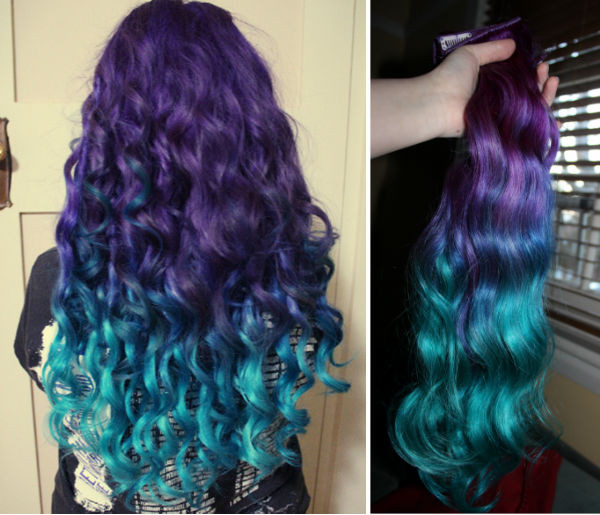 DIY Dyeing Hair  How to Dip Dye Your Hair at Home with Three Different