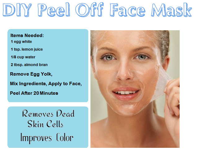 DIY Egg White Peel Off Mask  DIY Beauty Recipes Reme s & Foods
