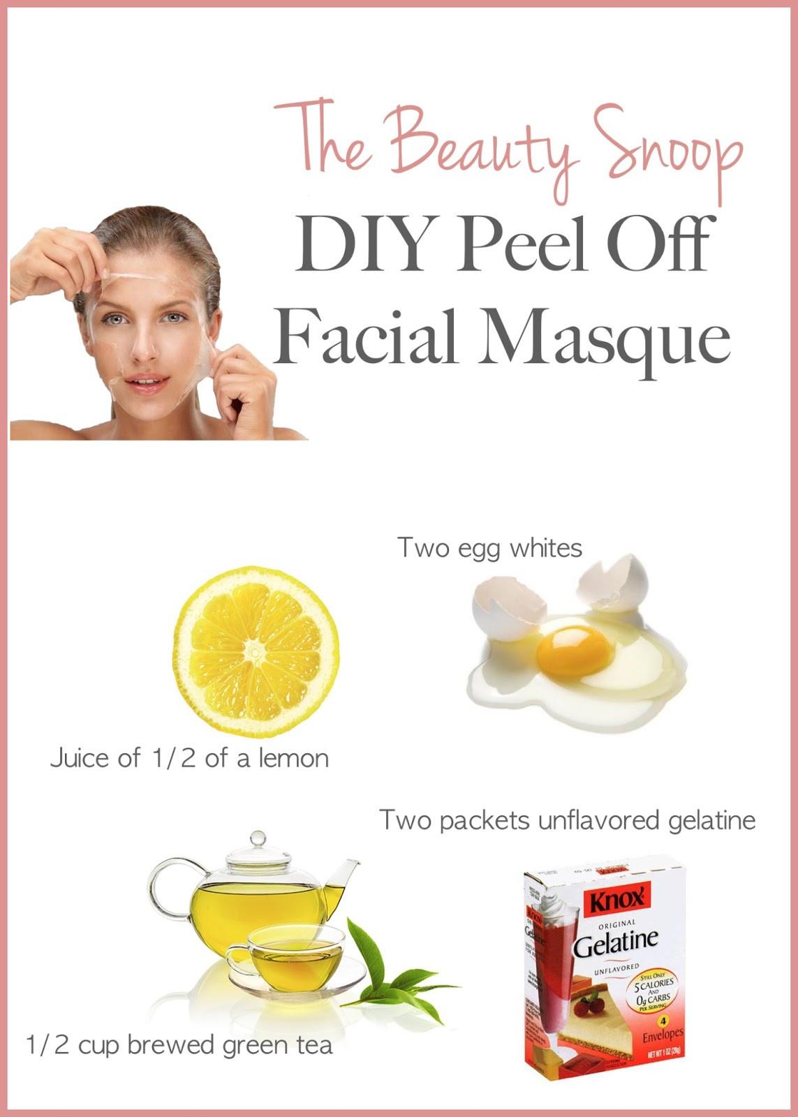DIY Egg White Peel Off Mask  domowy peeling