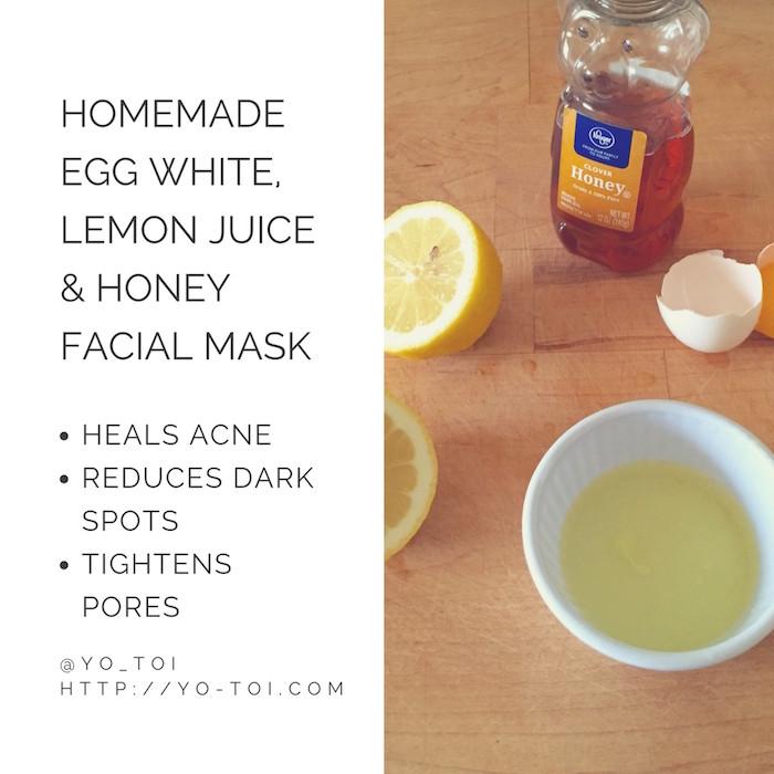 DIY Face Mask For Pimples  Egg White Lemon Juice & Honey Facial Mask for Acne Scars