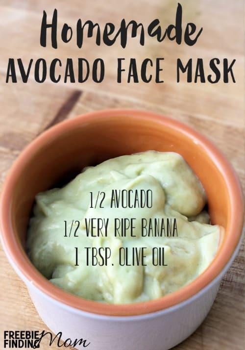 DIY Face Mask Recipe  Avocado Face Mask Homemade Recipe