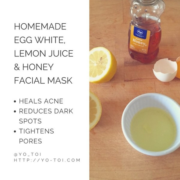 DIY Facemask For Pimples  Egg White Lemon Juice & Honey Facial Mask for Acne Scars