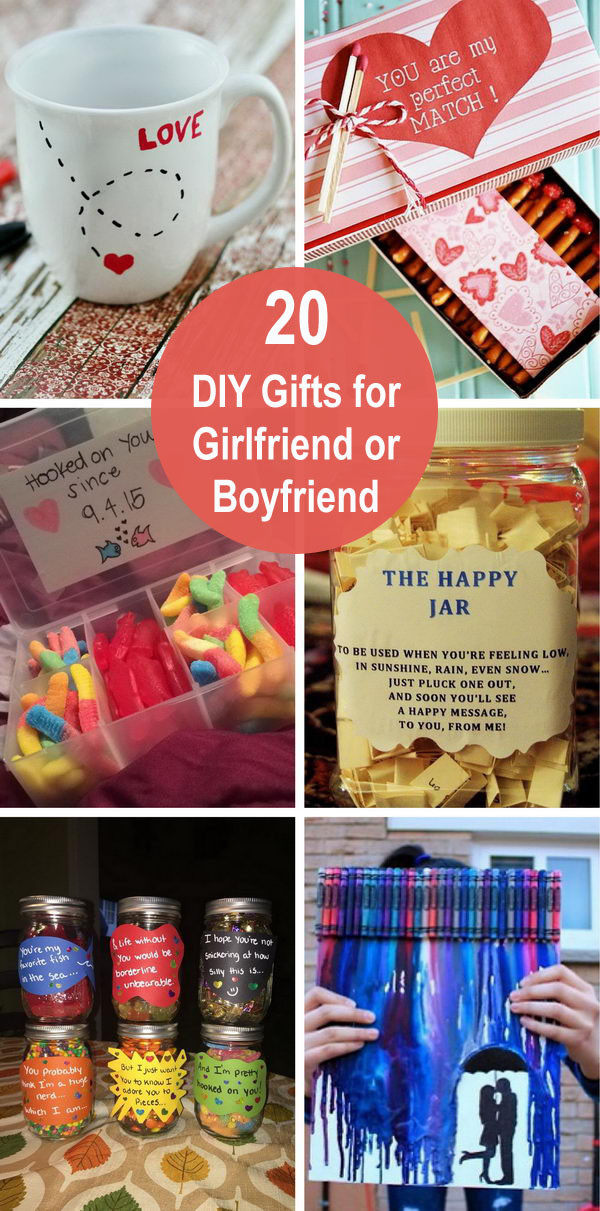 Diy Gift Ideas For Girlfriend  20 DIY Gifts for Girlfriend or Boyfriend