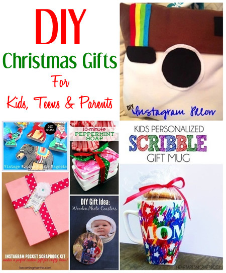 DIY Gifts For Parents  DIY Christmas Gift Ideas For Kids Teens & Parents