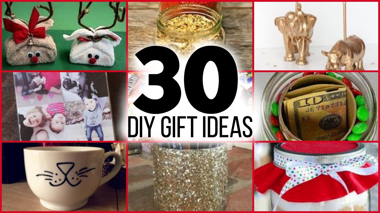 DIY Gifts For Parents  30 DIY CHRISTMAS GIFTS FOR GUYS GIRLS PARENTS FRIENDS