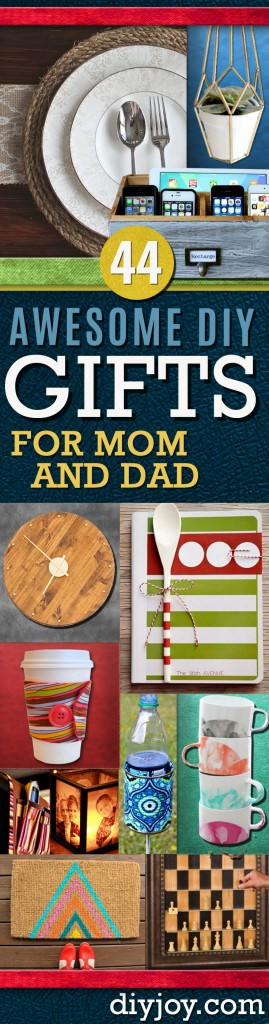 DIY Gifts For Parents  Awesome DIY Gift Ideas Mom and Dad Will Love DIY Joy