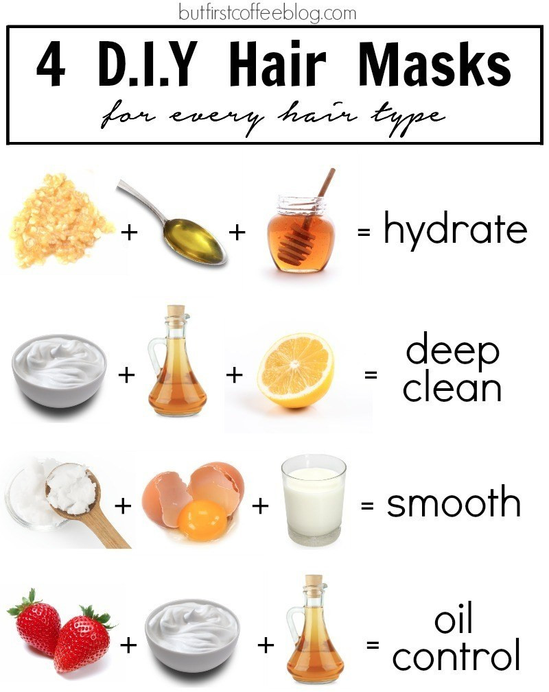 DIY Hair Mask  4 DIY Hair Masks for Every Hair Type But First Coffee